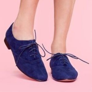Nwot Sole society blue suede oxfords sz 10